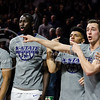 Teammates cheer on there boys during the game against Texas in Bramlage Coliseum on Feb. 21. The Wildcats took the Longhorns 58-48. (Meg Shearer   Collegian Media Group)