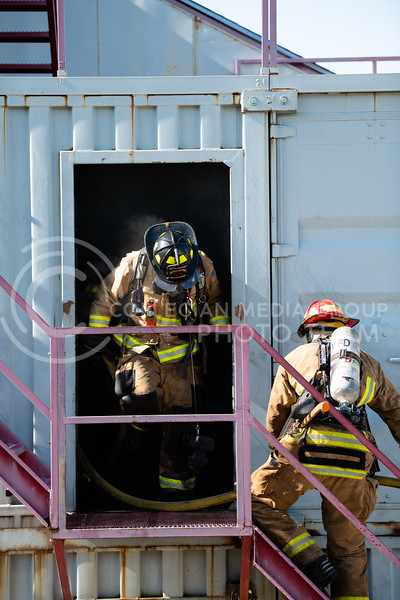 On Tuesday, June 26, 2018, the fire department ran controll burns for the recruits. (Olivia Bergmeier | Collegian Media Group)
