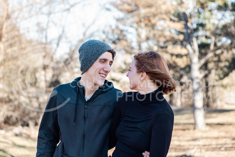 Sara Wood and Anthony Wood are a married couple here at K-State posing for a portrait in CiCo park, MHK, KS on March 5th 2020. (Sreenikhil Keshamoni | Collegian Media Group)