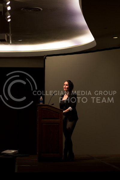 Former member of the Westboro Baptist Church Megan Phelps-Roper shares her story and speaks about fighting hate with love. Megan Phelps-Roper was a member of the church for many years before she left the church and hr own family. (Andrew Kemp | Collegian Media Group)