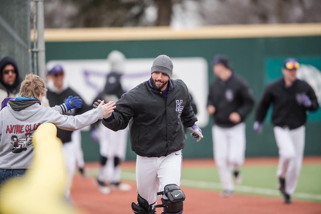 The Kansas State Wildcat baseball team faced off against the Mercer Bears on Sunday. (Olivia Bergmeier | Collegian Media Group)