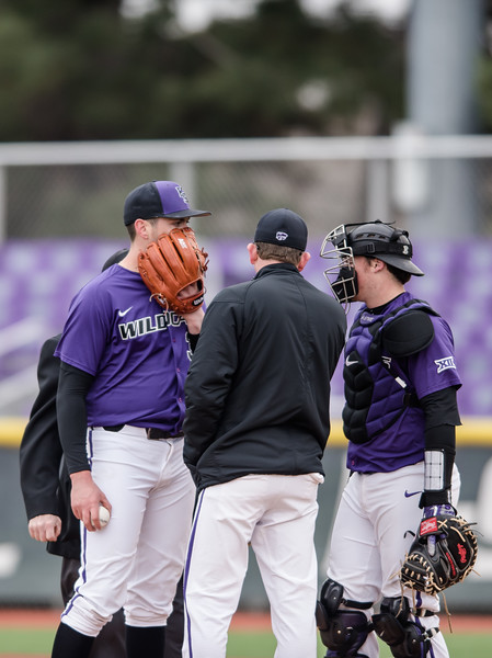 The Kansas State Wildcat baseball team faced off against the Mercer Bears on Sunday. (Olivia Bergmeier | Collegian Media Group)