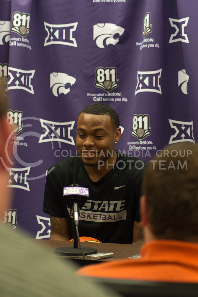 Carlbe Ervin II at the men's basketball press conference on June 28th, 2016. (Sarah Falcon | The Collegian)
