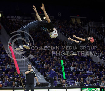 Members of XPogo perform the halftime entertainment during the K-State game against Baylor in Bramlage Coliseum on Jan. 14, 2017. (Nathan Jones | The Collegian)