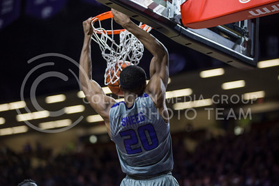 Freshman forward Xavier Sneed makes a shot on the basket during the K-State game against Baylor in Bramlage Coliseum on Jan. 14, 2017. (Nathan Jones | The Collegian)