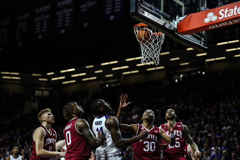 Makol Mawien waits to take the ball during K-State's basketball game against Denver in Bramlage Coliseum on Nov. 12, 2018. The Wildcats defeated the Pioneers 64-56. (Emily Lenk | Collegian Media Group)
