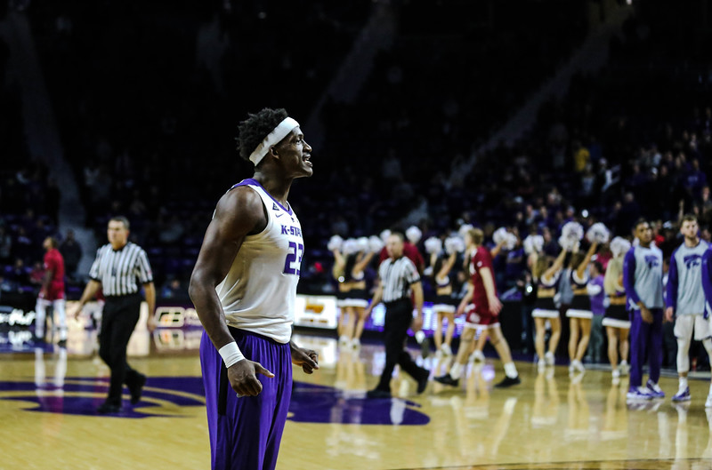 Austin Trice gets ready before the game against Denver University. The cats beat the Denver Boone's 64-56. (Emily Lenk | Collegian Media Group)