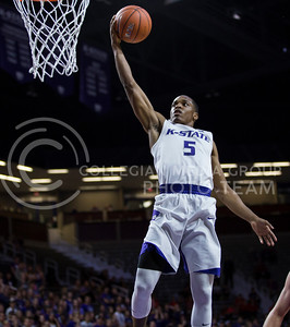 Sophomore guard Barry Brown attempts a shot on the basket during the K-State game against Pittsburg State in Bramlage Coliseum on Oct. 28, 2016. (Nathan Jones | The Collegian)
