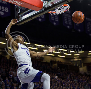 Sophomore guard Barry Brown makes a basket during the K-State game against TCU in Bramlage Coliseum on Feb. 1, 2017. (Nathan Jones | The Collegian)