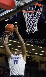 Freshman guard Brian Patrick goes up for a basket during the K-State basketball game against Green Bay in Bramlage Coliseum on Nov. 30, 2016. (Miranda Snyder   The Collegian)