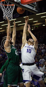 Freshman forward Isaiah Maurice goes up for a basket during the K-State basketball game against Green Bay in Bramlage Coliseum on Nov. 30, 2016. (Miranda Snyder   The Collegian)
