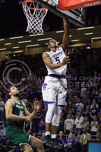 Sophomore guard Barry Brown goes up for a basket during the K-State basketball game against Green Bay in Bramlage Coliseum on Nov. 30, 2016. (Miranda Snyder   The Collegian)