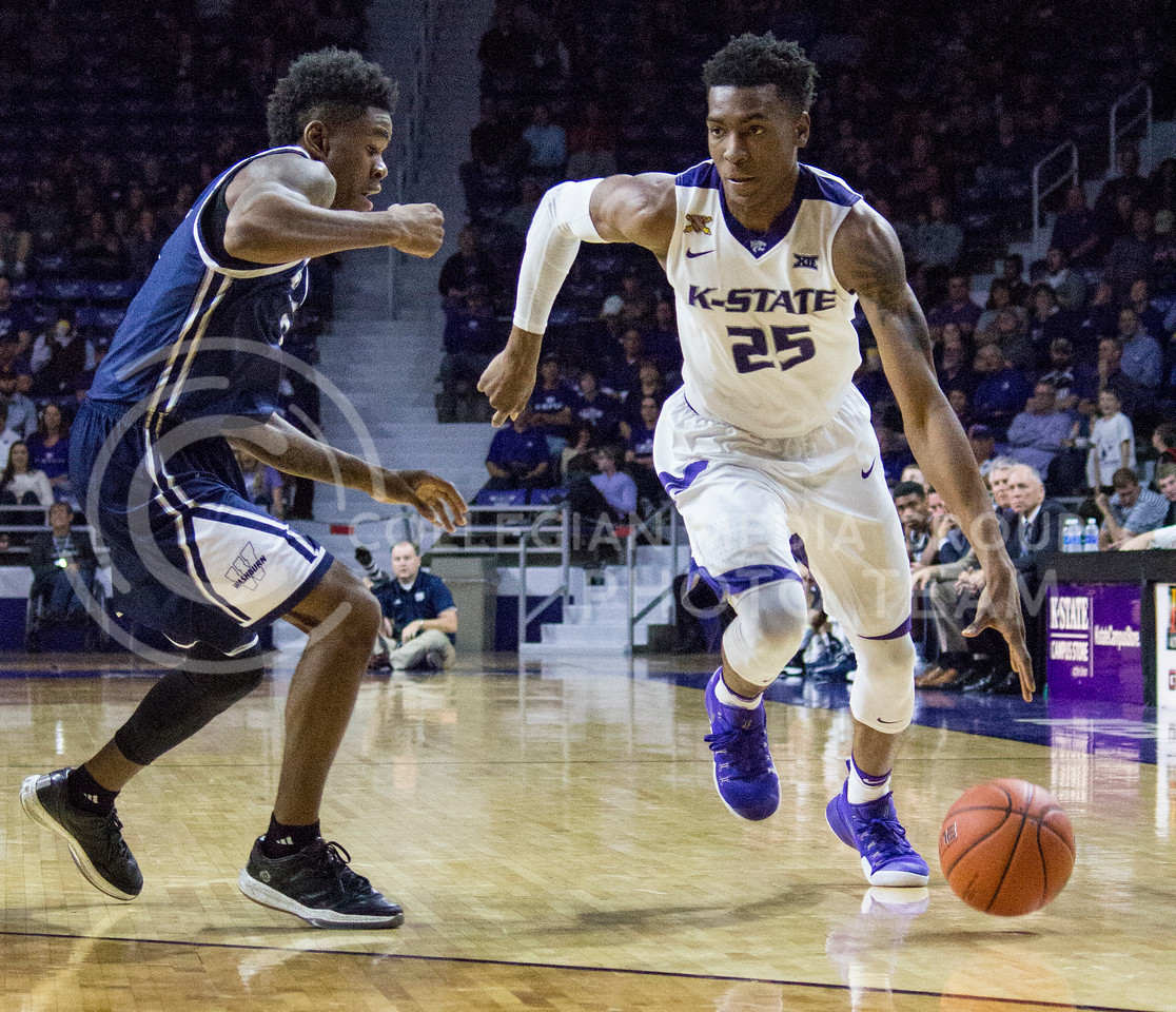 Senior forward Wesley Iwundu takes the ball to the basket during the K-State game against Washburn in Bramlage Coliseum on Nov. 4, 2016. (Miranda Snyder | The Collegian)