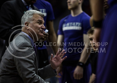 The basketball game between K-State and Baylor in the Big 12 men's basketball championship in the Sprint Center on March 9, 2017. The Wildcats beat the Bears 70-64. (Emily Starkey | The Collegian)