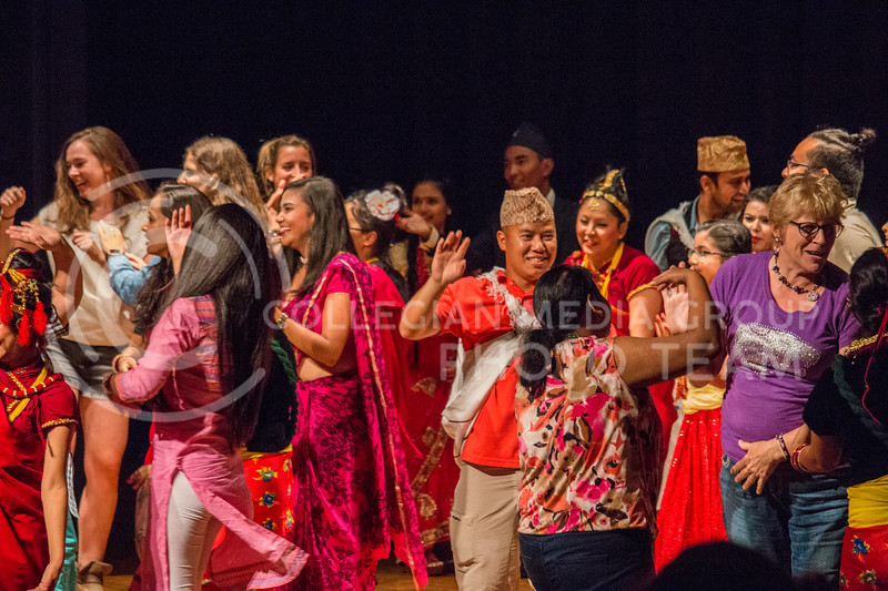 Manhattan locals and K-State Students celebrate the annual Nepal Night in Forum Hall at Kansas State University on Sept. 9, 2017 (Logan Wassall | Collegian Media Group)