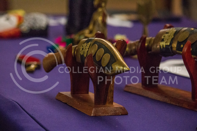 Nepalese tools at the annual Nepal Night in Forum Hall at Kansas State University on Sept. 9, 2017 (Logan Wassall | Collegian Media Group)