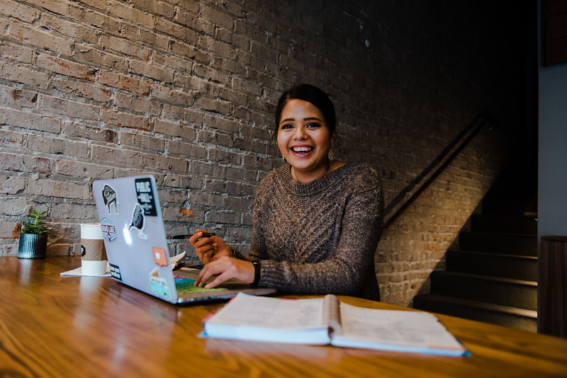 Paloma Roman, senior in athletic training is involved in numerous K-State organizations and clubs including SGA and Manhappenin' Magazine. (Meg Shearer | Collegian Media Group)