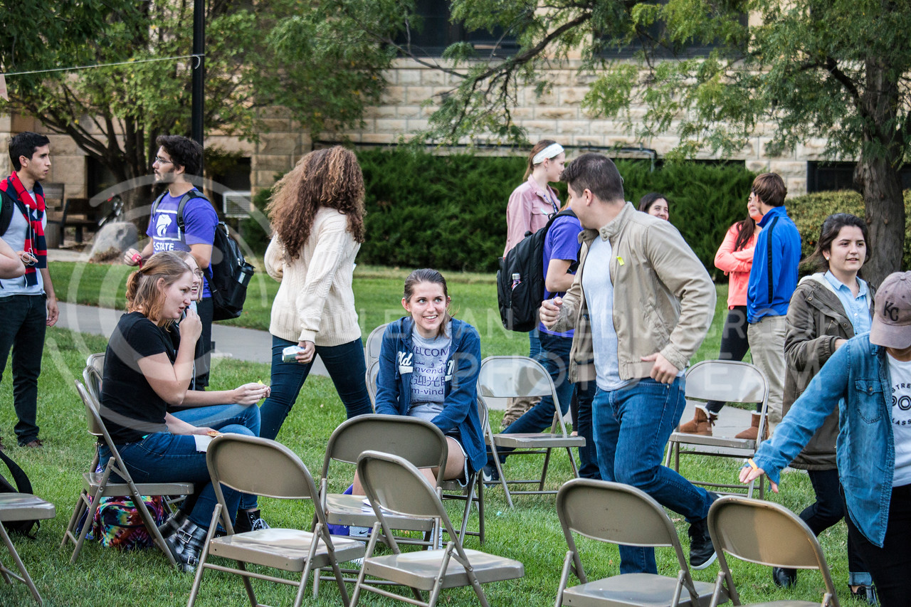 K-State students at Paraguayan Social in the quad on Sept. 27, 2017. (Logan Wassall | Collegian Media Group)