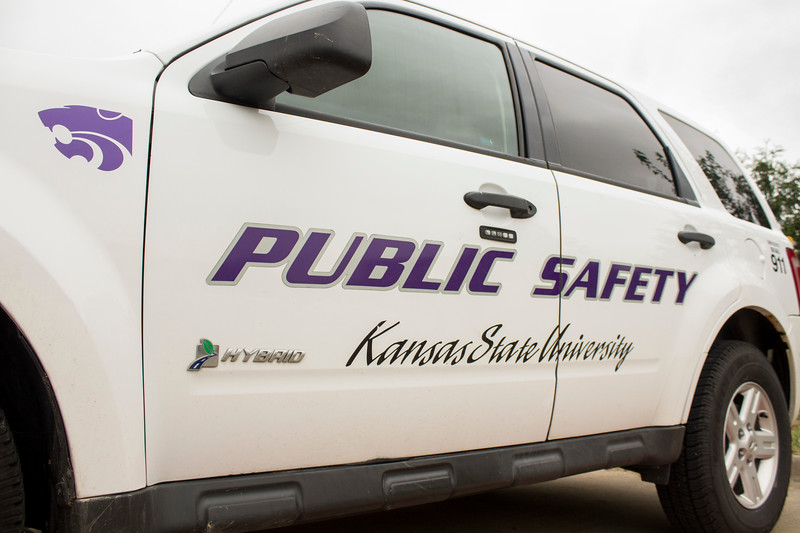 A Kansas State University Public Safety vehicle sits on campus. (Andrea Klepper | Collegian Media Group )