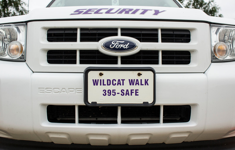 A Kansas State University Public Safety vehicle sits on campus. (Andrea Klepper | Collegian Media Group)