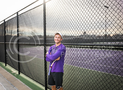 Steven Wegner, Kansas State Tennis Club President and senior in Marketing, stands in front of the tennis courts at the K-State Recreational Center on Dec. 2, 2016. (John Benfer | The Collegian)