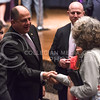 Luis Guillermo Solís, President of Costa Rica, chats with members of the audience after delivering the 171st Landon Lecture May 19, 2016, in Forum Hall. (Parker Robb | The Collegian)