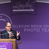 Luis Guillermo Solís, President of Costa Rica, delivers the 171st Landon Lecture, speaking about security challenges various democratic states like the U.S. and Costa Rica now face in the globalizing world, May 19, 2016, in Forum Hall. (Parker Robb | The Collegian)