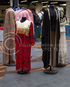 Traditional Saudi clothing is on display to show students and visitors how people in Saudi Arabia typically dress as part of the National Day of Saudi Arabia celebration in the K-State Student Union courtyard on Oct. 6, 2016. (Miranda Snyder | The Collegian)