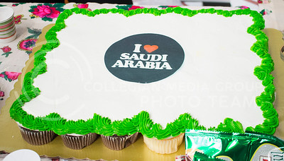 To celebrate National Day of Saudi Arabia, students got the opportunity to learn more about the Saudi culture in the K-State Student Union courtyard on Oct. 6, 2016. (Miranda Snyder | The Collegian)