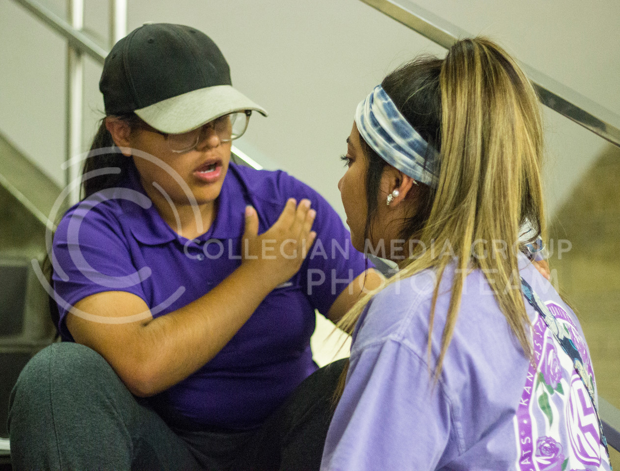 Sophomore Leslie Ramirez comforts Freshman Monica Romero as things got emotional at the Solidarity rally at the Bosco Plaza on Sept. 14th, 2017. (Kelly Pham | The Collegian)