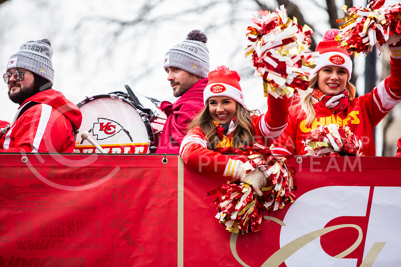 Chiefs fans from all across the country come together in Kansas City, Mo. for the Super Bowl LIV celebration downtown on Feb. 5, 2020. The parade began at 11:30 a.m. followed by a rally at Union Station. The last time the city saw a crowd like this was in 2015 when the Royals won the World Series. (Logan Wassall | Collegian Media Group)