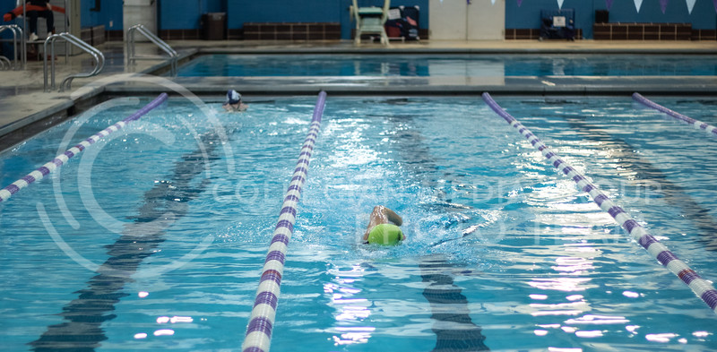 Hamilton Brown, a sophmore here at Kstate, finishing his last lap of the workout with the K-State Swim Club on feb 24th, 2020. (Sreenikhil Keshamoni | Collegian Media Group)