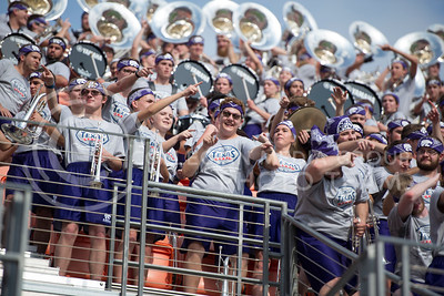 Members of the K-State Marching Band perform during the pep rally at the BBVA Compass Stadium in Houston, Texas on Dec. 27, 2016. (George Walker | The Collegian)