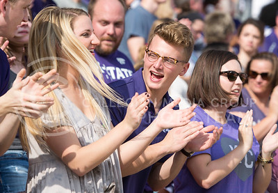K-State fans during the pep rally at the BBVA Compass Stadium in Houston, Texas on Dec. 27, 2016. (George Walker | The Collegian)