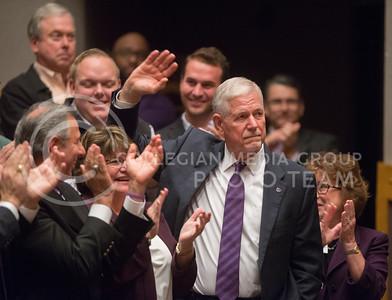The Kansas Board of Regents names Gen. Richard B. Myers the 14th President of K-State on Nov. 15, 2016. (George Walker | The Collegian)