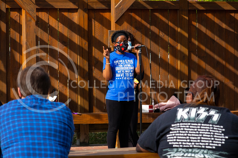 Members of the Black Lives Matter movement gathered in Triangle Park on November 8th 2020 to celebrate Joe Biden and Kamala Harris winning the 2020 Presidential election. The members also discussed upcoming BLM events and ways for members to show support. (Dalton Wainscott I Collegian Media Group)