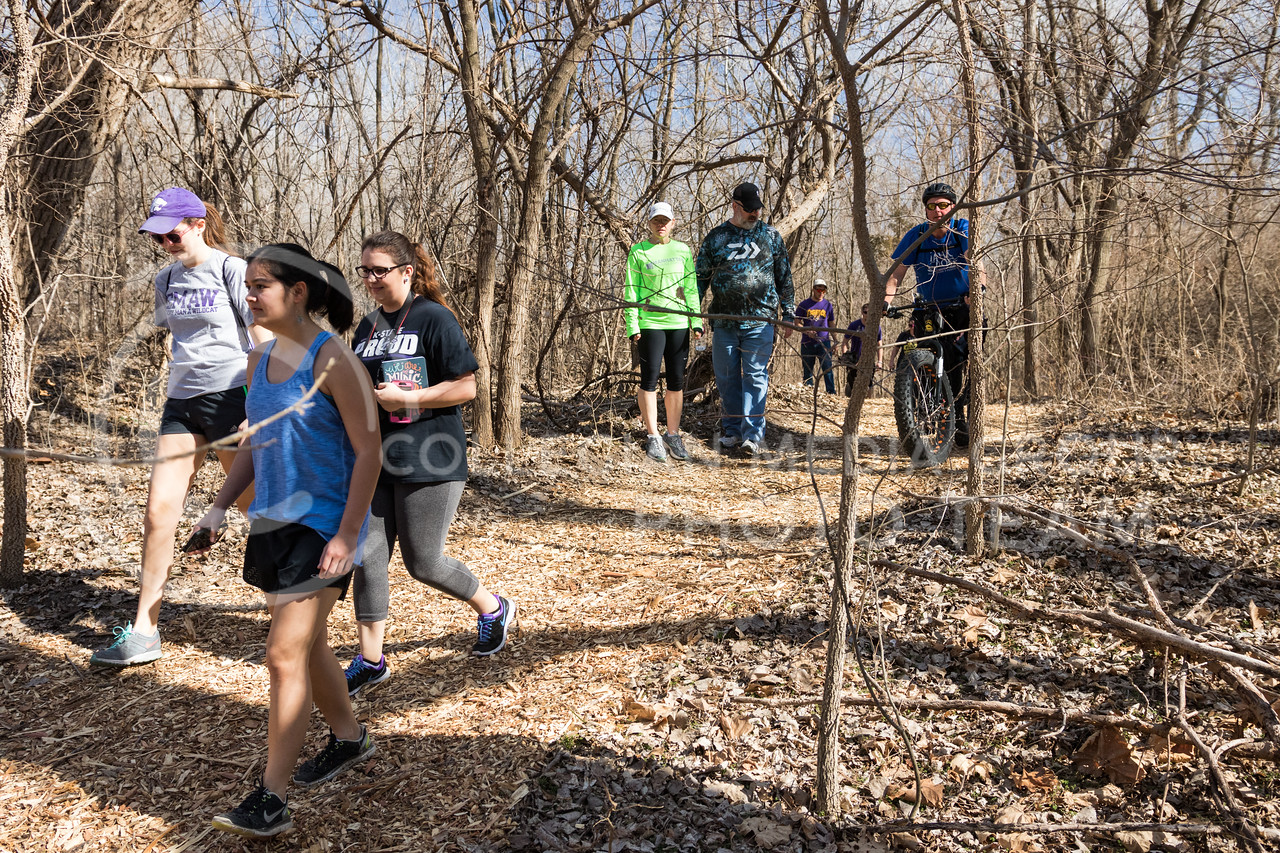 Tuttle Trek attendees walk at Tuttle Creek State Park during the Tuttle Trek event on Feb 18, 2017. (John Benfer | The Collegian)