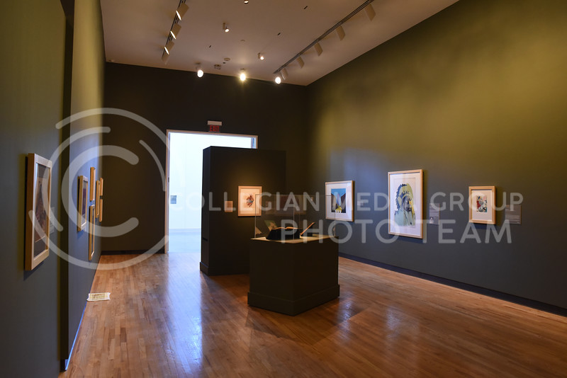 The Voices of the West Exhibition at the Marianna Kistler Beach Museum of Art is open from February 4 to July 25. The exhibit presents alternate representations of Native American history. (John Chapple | Collegian Media Group)