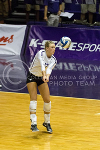 Outside hitter Brooke Sassin passes the ball in the game against Baylor on Oct. 29, 2016, in Ahearn Field House. (Maddie Domnick | The Collegian)
