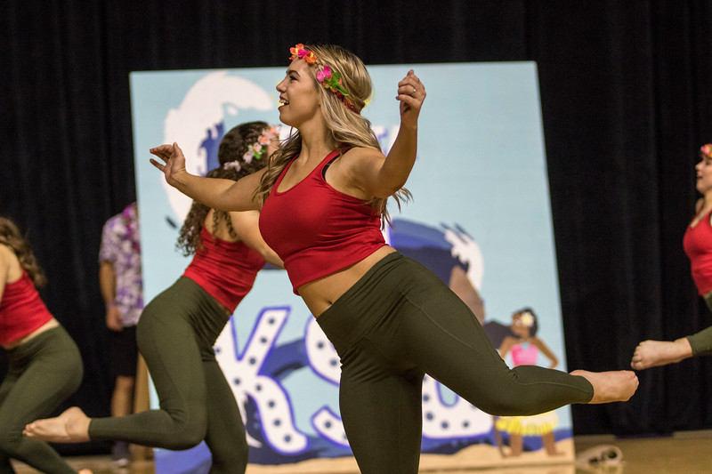 Members of the fraternity and sorority community come together in their homecoming pairings to perform dance routines at Wildcat Request Live at Bramlage Colesium on Oct. 22, 2019. (Sabrina Cline | Collegian Media Group)