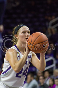 Senior guard Kindred Wesemann shoots the ball during the K-State game against Auburn in Bramlage Coliseum on Dec. 1, 2016. (Maddie Domnick  The Collegian)