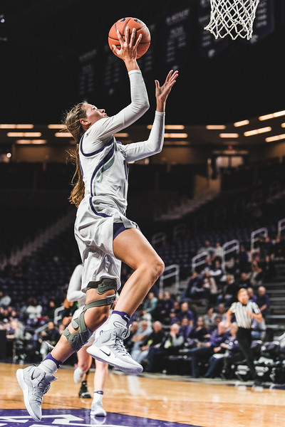 K-State senior Kayla Goth goes up to score against the Mean Green during Friday nights game in Bramlage Coliseum. K-State won 60-42. (Alex Todd | Collegian Media Group)
