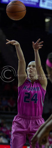 Senior guard, Kindred Wesemann shoots the ball during the K-State game against Oklahoma State in Bramlage Coliseum on Jan. 28 2017. (Sabrina Cline | The Collegian)