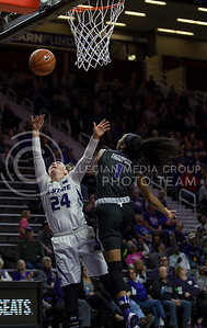 Senior guard Kindred Wesemann makes a shot on the basket during the K-State game against TCU in Bramlage Coliseum on Jan. 18, 2017. (Nathan Jones   The Collegian)