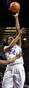 Breanna Lewis, senior center, goes up for the basket during the K-State game against Tulsa in Bramlage Coliseum on Nov. 11, 2016. (Sabrina Cline | The Collegian)