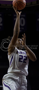 Breanna Lewis, senior center, goes up for the layup during the K-State game against Tulsa in Bramlage Coliseum on Nov. 11, 2016. (Sabrina Cline | The Collegian)