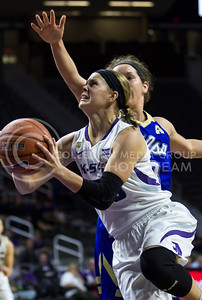 Shaelyn Martin, junior guard, goes up to score during the K-State game against Tulsa in Bramlage Coliseum on Nov. 11, 2016. (Sabrina Cline | The Collegian)