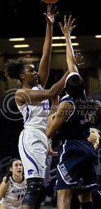 Breanna Lewis, senior guard, goes up for the shot during the K-State game against Washburn in Bramlage Coliseum on Nov. 4, 2016. (Sabrina Cline | The Collegian)