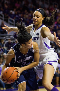 Eternati Willock, freshman forward, defends the ball during the K-State game against Washburn in Bramlage Coliseum on Nov. 4, 2016. (Sabrina Cline | The Collegian)