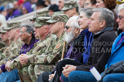 Audience members at the World War I Memorial Stadium Dedication Ceremony on April 21, 2017. (John Benfer | The Collegian)